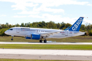 Bombardier C-Series commercial jet