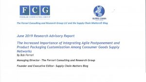 Research- Integrating Agile Postponement