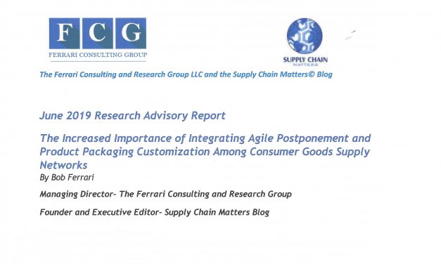 Announcing Availability of Newly Published Research Advisory- Integrating Agile Postponement