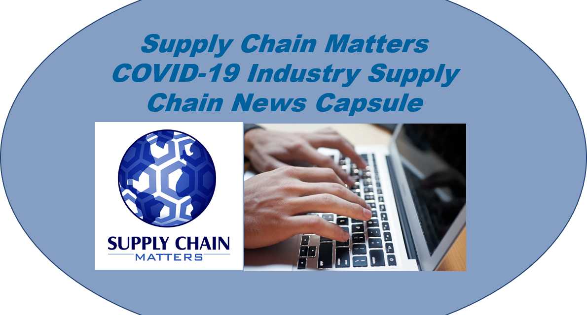 COVID-19 Healthcare Supply Chain Disruption News Capsule- January 5 2020